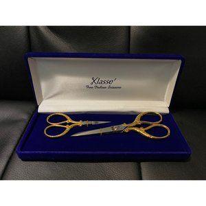 Klasse Italian Gold 2-Piece Fine Scissor Set